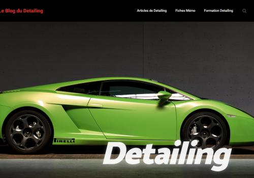 capture d'ecran du site le blog du detailing